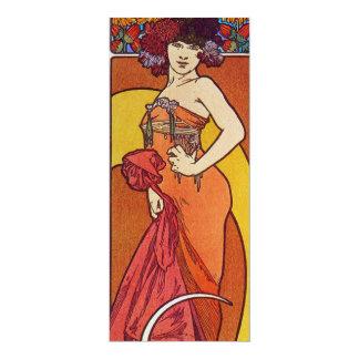 "Sun Flower Goddess 4"" X 9.25"" Invitation Card"