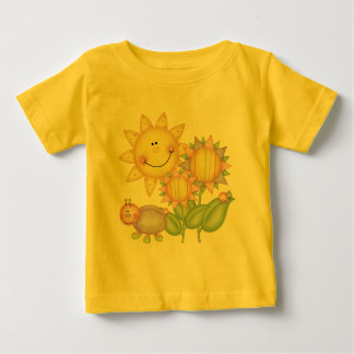 Sun Flowers and Bugs Baby T-Shirt