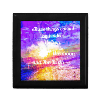 Sun ,Flowers and inspirational Buddha message Small Square Gift Box