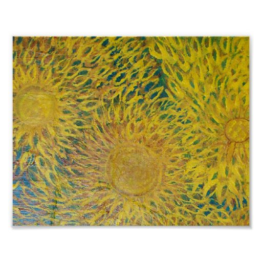 Sun Flowers Print