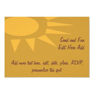 """Sun Frame Tan 5"""" X 7"""" Invitation Card"""