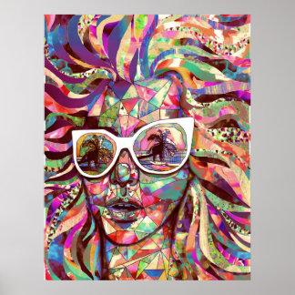 """Sun Glasses In a Summer Sun"" poster"
