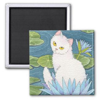 Sun God Cat Square Magnet Moussart