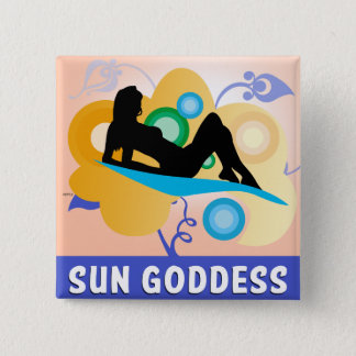 Sun Goddess 15 Cm Square Badge