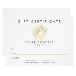 Sun Goddess Girl Logo Spray Tanning Gift Card