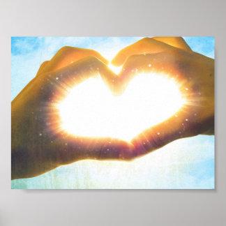 sun heart poster