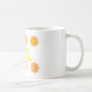 Sun icons set mug