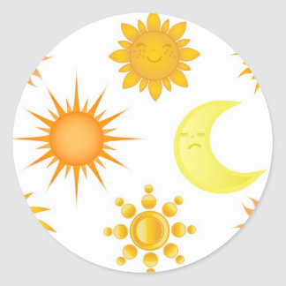 Sun icons set sticker
