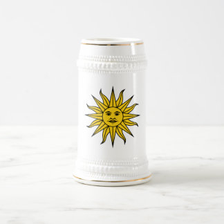 Sun in Glory + Splendour White+Gold Beer Stein