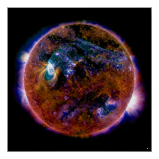 Sun in Magnetic Spectrum Poster