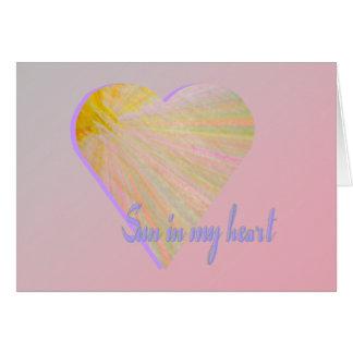 Sun in my heart card