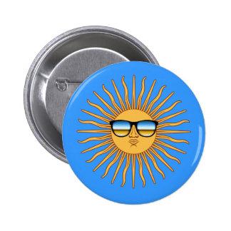 Sun in Shades Pinback Button