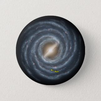 Sun in  the Milky Way NASA 6 Cm Round Badge