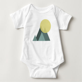 sun in the mountains baby bodysuit