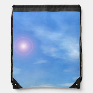 Sun in the sky background - 3D render Drawstring Bag