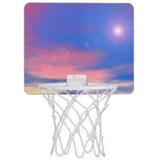 Sun in the sunset sky background - 3D render Mini Basketball Hoop