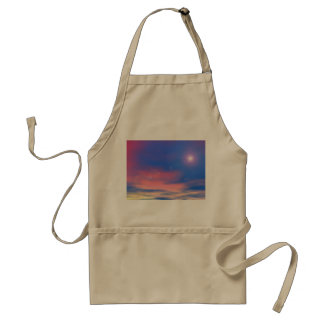 Sun in the sunset sky background - 3D render Standard Apron