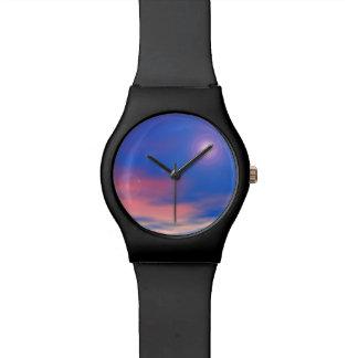 Sun in the sunset sky background - 3D render Wrist Watch