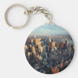Sun Is Setting On New York City City-scape View Key Ring