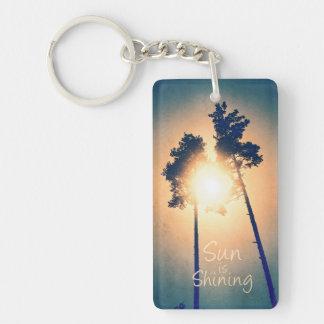 Sun is shining Double-Sided rectangular acrylic key ring