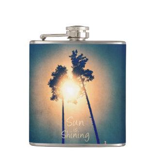 Sun is shining hip flasks