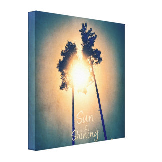 Sun is shining gallery wrapped canvas