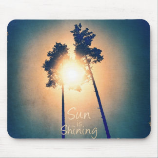 Sun is shining mouse pad