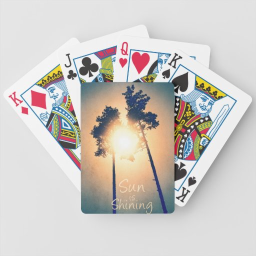 Sun is shining bicycle poker cards