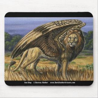 Sun King Winged Lion Mousepad