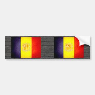 Sun kissed Andorra Flag Bumper Sticker
