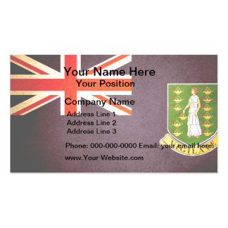 Sun kissed British Virgin Islands Flag Business Cards