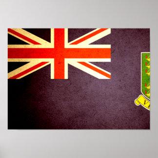Sun kissed British Virgin Islands Flag Poster