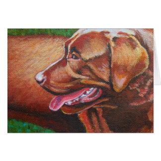 Sun Kissed Chocolate Labrador Retriever Card