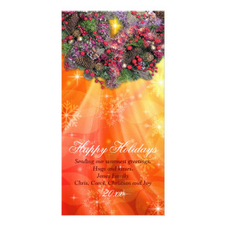 sun kissed christmas personalised photo card