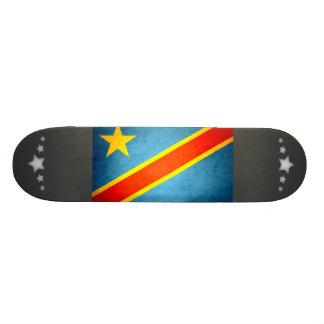 Sun kissed Democratic Republic of Congo Flag Custom Skateboard