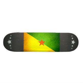 Sun kissed French Guiana Flag Skate Board