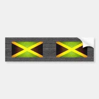 Sun kissed Jamaica Flag Bumper Sticker