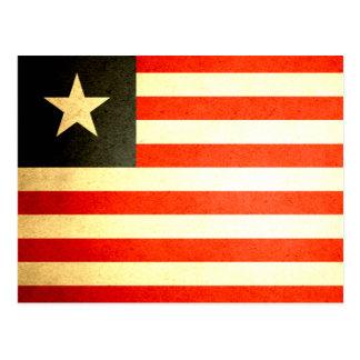 Sun kissed Liberia Flag Postcard