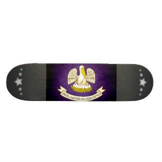 Sun kissed Louisiana Flag Custom Skateboard