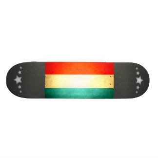 Sun kissed Luxembourg Flag Skate Boards