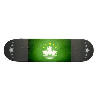 Sun kissed Macau Flag Skate Board