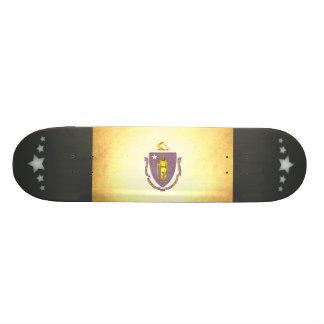 Sun kissed Massachusetts Flag Skateboards