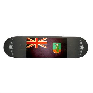 Sun kissed Montserrat Flag Skate Boards