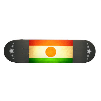 Sun kissed Niger Flag Custom Skate Board