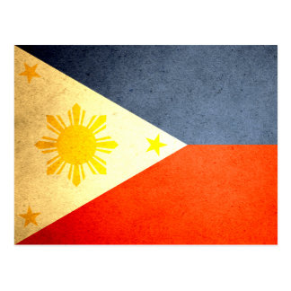 Sun kissed Philippines Flag Postcard