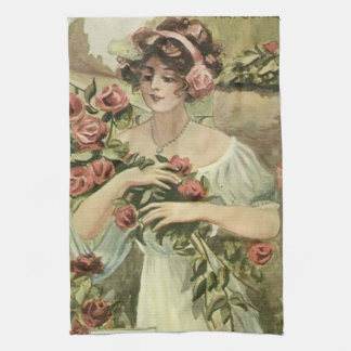 Sun Kissed Roses kitchen towel
