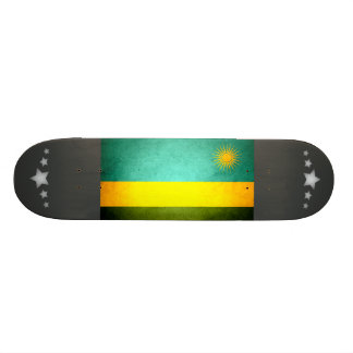 Sun kissed Rwanda Flag Custom Skate Board