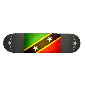 Sun kissed Saint Kitts and Nevis Flag Skate Board Decks