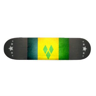 Sun kissed Saint Vincent and the Grenadines Flag Skateboards