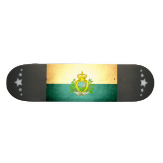 Sun kissed San Marino Flag Skateboard Deck